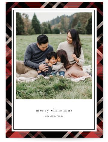 Joyful Plaid Holiday Photo Cards