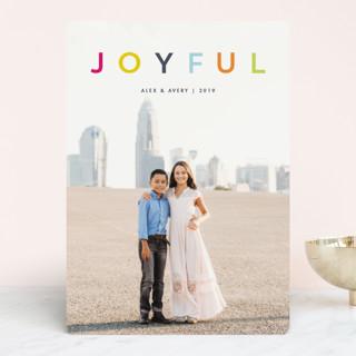 joyful colorful Holiday Photo Cards