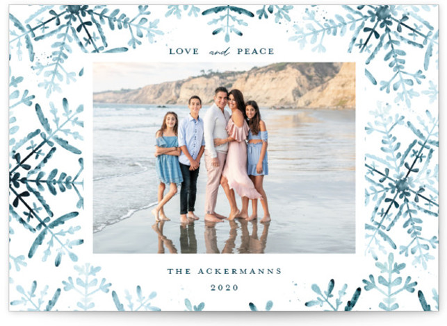 Wintery Flurry Holiday Photo Cards