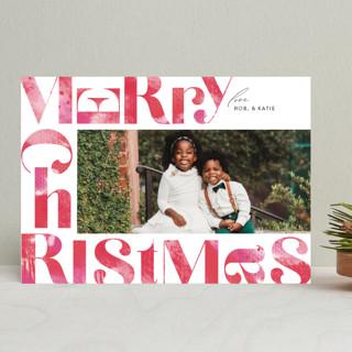 Tree Skirt Holiday Photo Cards