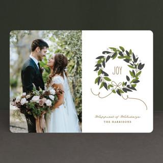 Magnolia Wreath Holiday Photo Cards