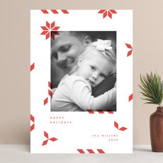 geometric mail Holiday Photo Cards
