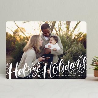 Merry Christmas Sparkle Snow Holiday Photo Cards