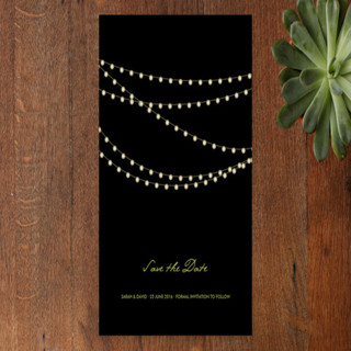 Midnight Vineyard Foil-Pressed Wedding Invitation Petite Cards