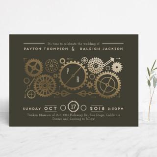 Steampunk Wedding Card