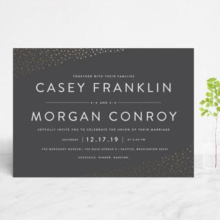 Modern Glam Foil-Pressed Wedding Invitations