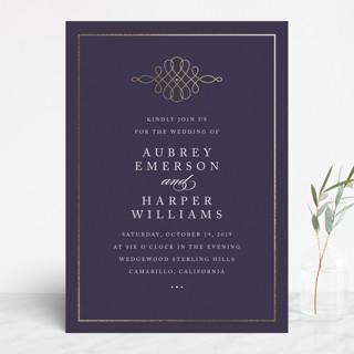 Opera Foil-Pressed Wedding Invitations