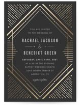 Big Spark Foil-Pressed Wedding Invitations