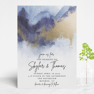Gilded Beauty Foil-Pressed Wedding Invitations