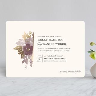 Ambrosia Foil-Pressed Wedding Invitations