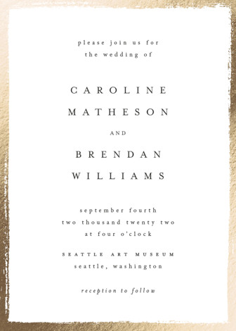 painted frame foil pressed wedding invitations by kelly schmidt minted painted frame customizable foil pressed wedding invitations in white by kelly schmidt