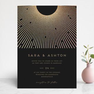 Supernova Foil-Pressed Wedding Invitations