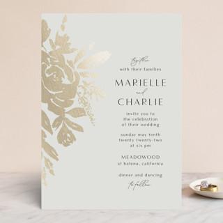Wedding veil Foil-Pressed Wedding Invitations