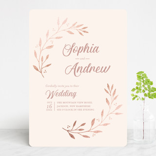 Vineyard Foil-Pressed Wedding Invitations