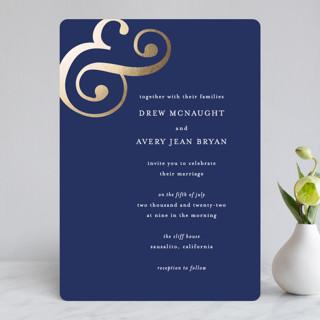 Classic Ampersand Foil-Pressed Wedding Invitations
