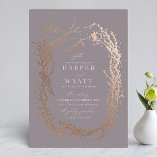 enchanted entanglement Foil-Pressed Wedding Invitations