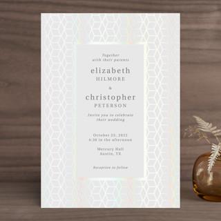 Geometric Pattern Gloss-Press™ Wedding Invitation