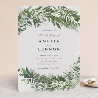 Fresh Vines Gloss-Press™ Wedding Invitation