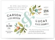 Floral Ampersand Wedding Invitation Petite Cards