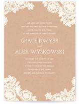 Lace and Kraft Wedding Invitation Petite Cards