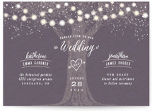 Garden Lights Wedding Invitation Petite Cards