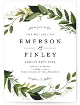 Vines of Green Wedding Invitation Petite Cards