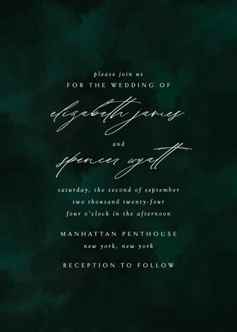emerald - Wedding Invitations in Emerald by Andrea Cernin