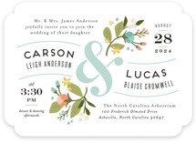 Floral Ampersand Wedding Invitations