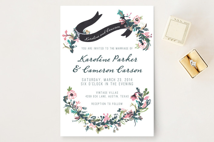 Wedding Invitations Cleveland: Floral Hand Painted Wedding Invitations By Abbey Cleveland