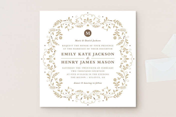 When To Mail Wedding Invitations Emily Post: Jasmine Bloom Wedding Invitations By Kristen Smith