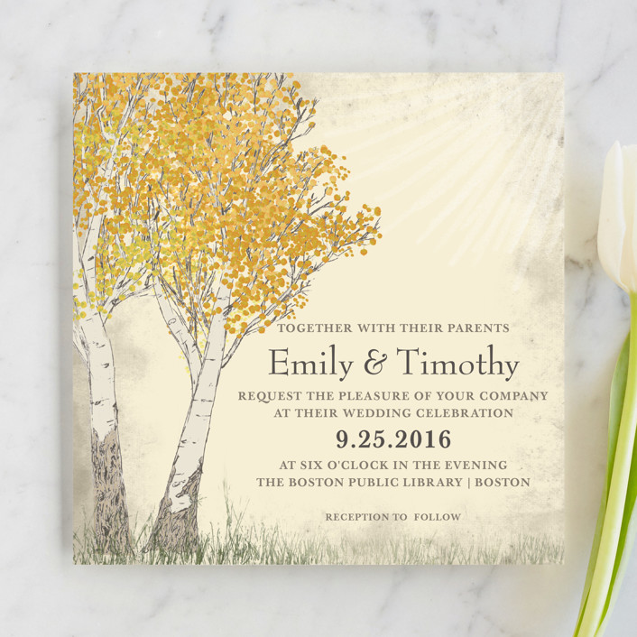 Fall Themed Wedding Invitations: Holiday Photo Cards, Wedding Invitations, Save The Date