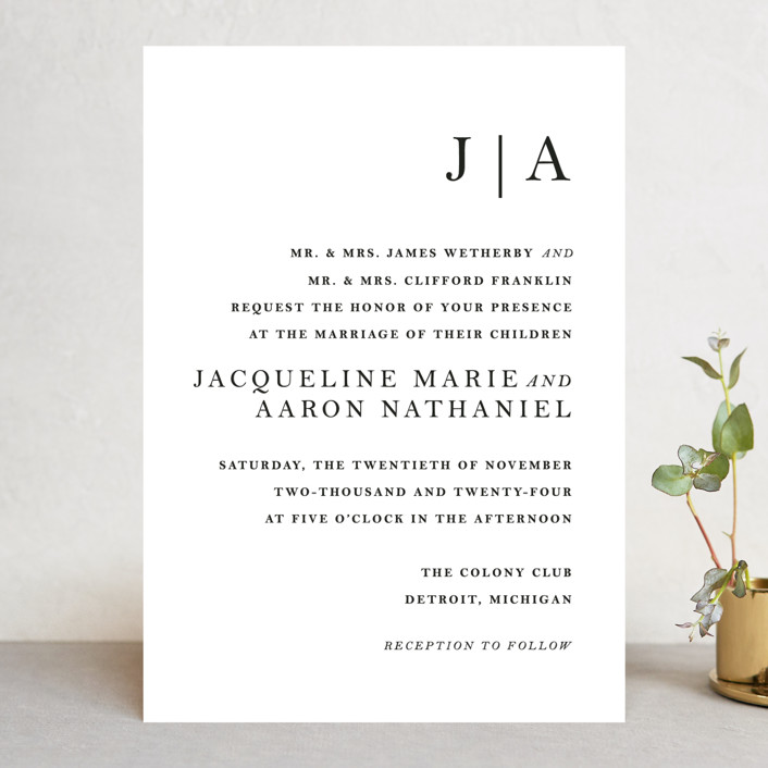 Sophistotype Wedding Invitations By Snow And Ivy