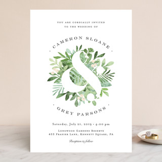 Leafy ampersand Wedding Invitations