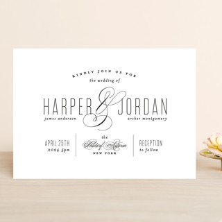 Scripted Ampersand Wedding Invitations