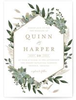 Succulent Surround Wedding Invitations