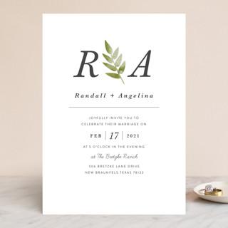 Watercolor Leaf Wedding Invitations