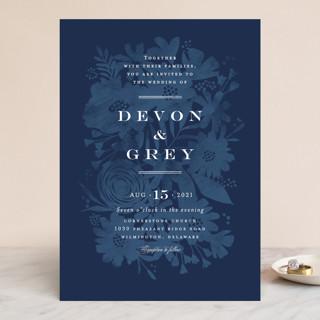 Floral screenprint Wedding Invitations