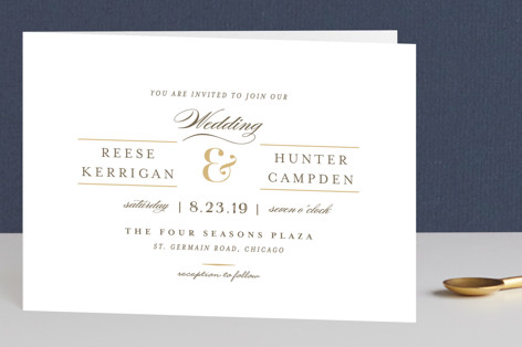 Valencay Four-Panel Wedding Invitations