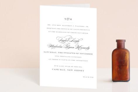 Charming Go Lightly Four-Panel Wedding Invitations