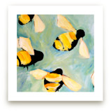 Happy Bees by claire whitehead