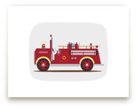 Red Fire Truck #2 by Rebecca Marchese