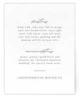 Something Letterpress Directions Cards