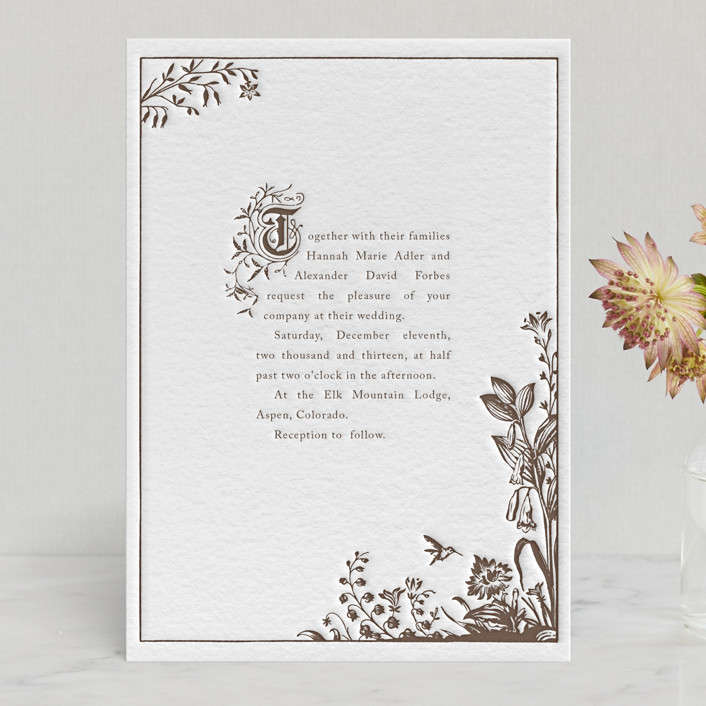 Storybook Letterpress Wedding Invitations By Jody Wody
