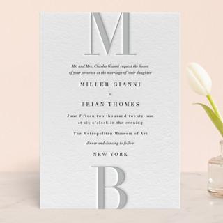 Avenue Letterpress Wedding Invitations