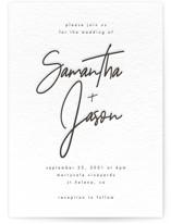 Modern Script Letterpress Wedding Invitations
