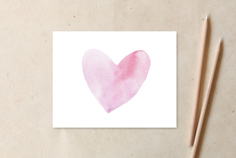 Pale Heart Valentine II Non-Custom A2 Cards