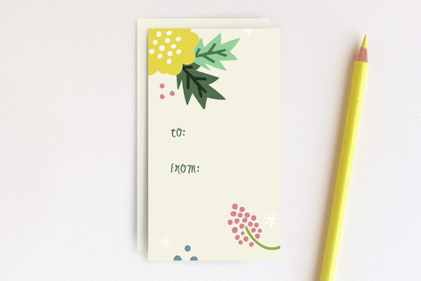 Floral Collage Gift Tags Mini Cards