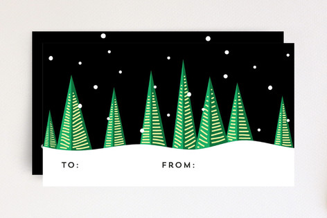 Holiday Trees at Night Mini Cards