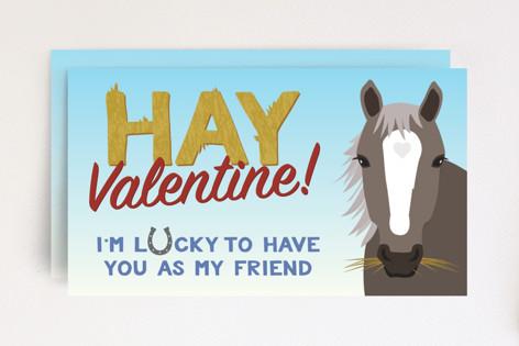Hay for Valentine Mini Cards