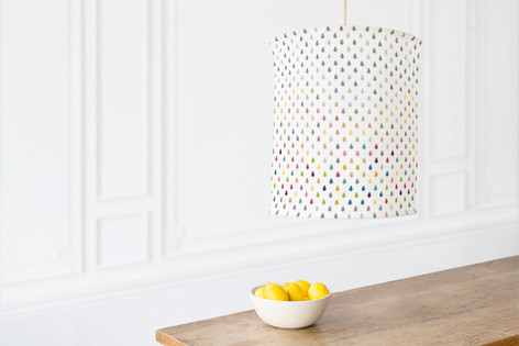 Colored Rain Self Launch Chandelier Lampshades
